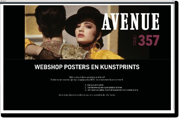 avenue #357 webshop mettrop grafische vormgeving