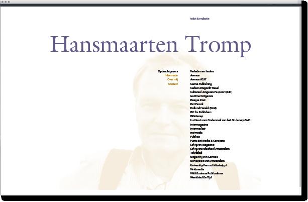 hansmaarten tromp tekst & redactie mettrop grafische vormgeving